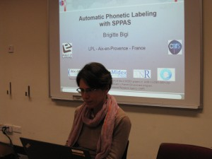 Brigitte Bigi's talk (Corpora Session)