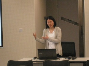 Angel Chan during her presentation (Language Pathology Session)